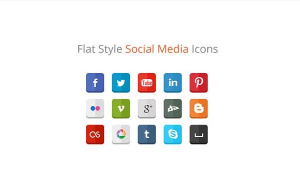 flat-style-social-media-icon
