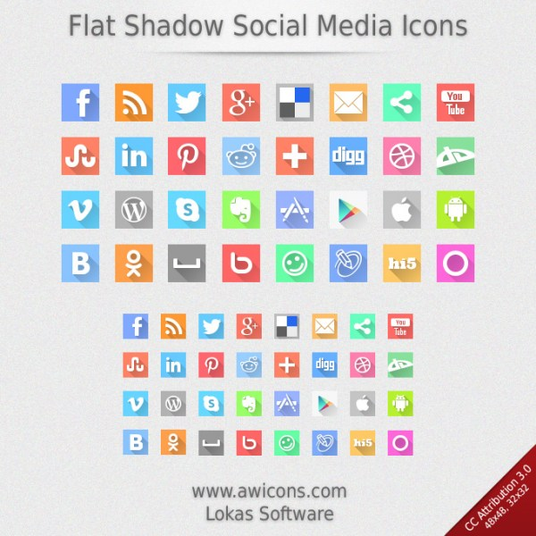 http://www.awicons.com/free-icons/social-media-icons/flat-shadow-social-media-icons-by-lokas-software/