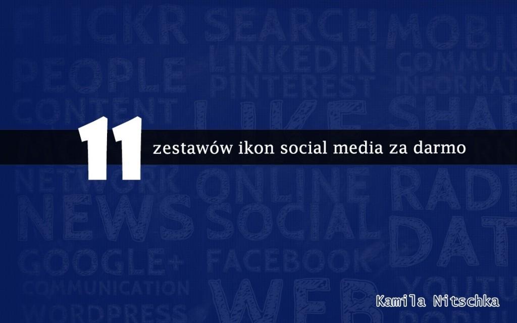 graficzne zestawy ikon social media za darmo