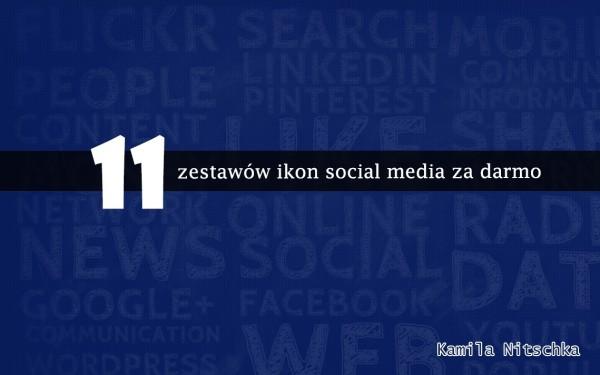 11 zestawów ikon social media za darmo