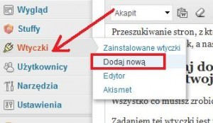 dodawanie wtyczki wordpress