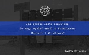 formularz kontaktowy lista rozwijana contact fotm 7