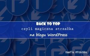 back to top czyli powrót na gó strony wtyczka wordpress