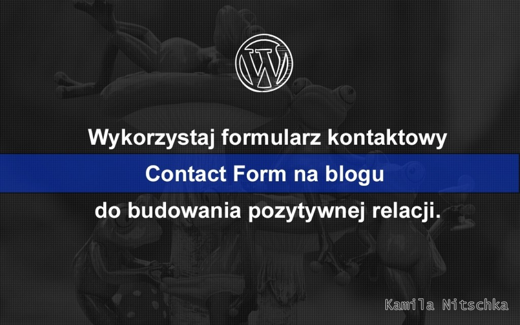 formularz kontaktowy wordpress contact form 7