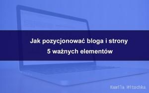 jak pozycjonować bloga i stronęinternetową