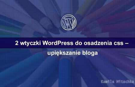 2 wtyczki WordPress do osadzenia css – upiększanie bloga