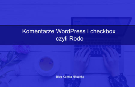 Komentarze WordPress i checkbox czyli Rodo