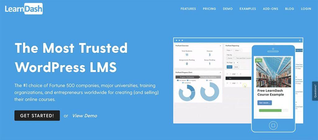 platforma kursów online na WordPress wtyczka LearnDash