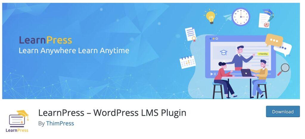 platforma kursów online na WordPress wtyczka Learnpress