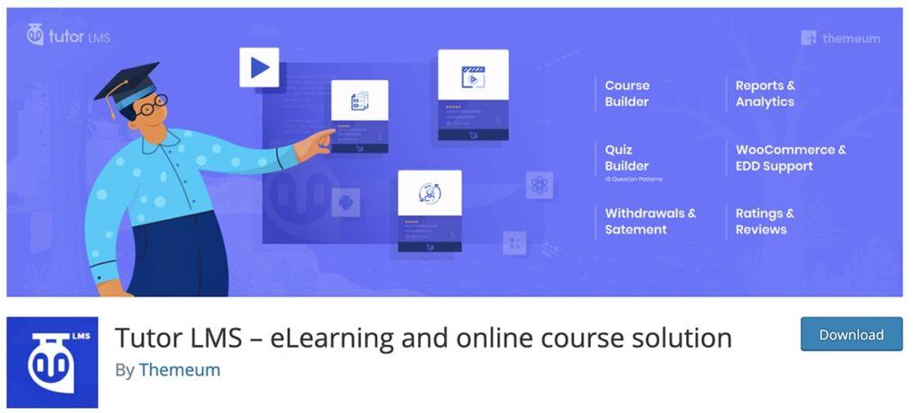 platforma kursów online na WordPress wtyczka Tutor LMS